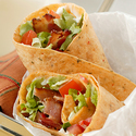 Bacon, Lettuce and Tomato Wraps